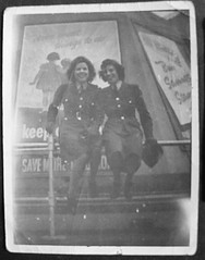 My mum on the right, Kaye on the left. (maggie jones.) Tags: london liverpool margaret peggy 1945 worldwar2 rothwell wraf veday70