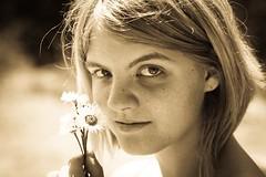 Flower child (Tangolarina) Tags: flowers summer girl 2010 nickjohnson nickjohnsonphotography wispra