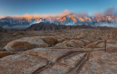 Magical Light - Alabama Hills, Lone Pine, CA (D Breezy - davidthompsonphotography.com) Tags: california travel winter light snow mountains cold canon layers mtwhitney bootcamp easternsierras alabamahills 24105mml 5dmarkii