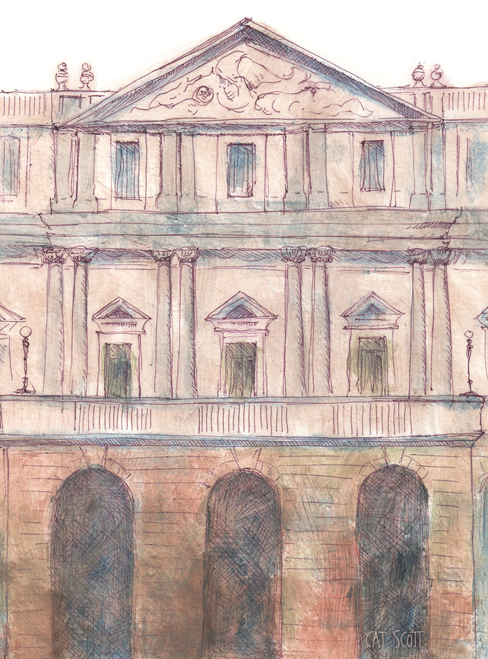 illustration of la scala milan