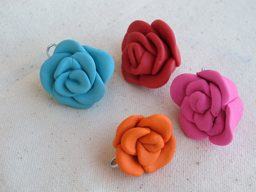 Some clay roses