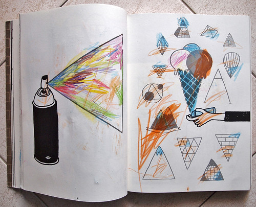 street art doodle book / outside the lines