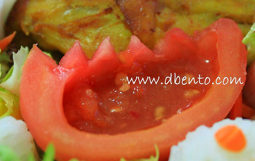 tomato with sambal/hot chili sauce