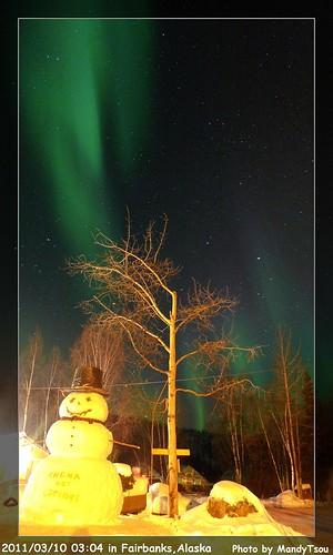 床墊秋刀魚收到零下40度.地球另一端的北極光6
