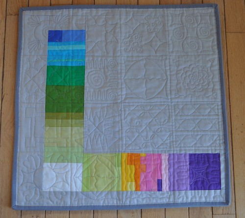 No Prints Allowed Quilt Back