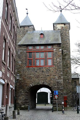 rear view of city gate in Maastricht