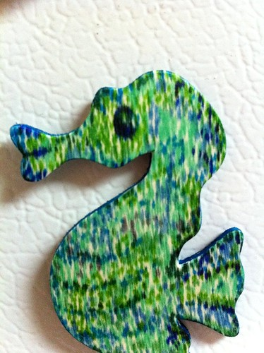 Seahorse magnet close up