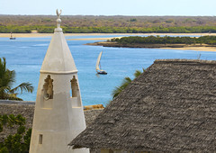A View Of The Friday Mosque And Minaret On Shela, Lamu Kenya (Eric Lafforgue) Tags: africa sea vacation color horizontal architecture religious outdoors island photography boat sand exterior kenya minaret muslim islam faith religion indianocean culture mosque unescoworldheritagesite unesco worldheritagesite afrika spirituality tradition lamu vacations islamic swahili afrique eastafrica fridaymosque qunia shela lamuisland lafforgue traveldestination  qunia religiousmonument    kea   tradingroute a 176845 mosquemosqueeislammuslimreligion