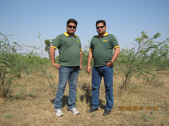 "Nitin & Sachin Kulkarni, Directors,  Vastushodh Projects, Promoters of ""Anandgram Talegaon Dhamdhere - Nagar Road - Pune"" - A township of 1 Room Kitchen, 1 BHK, 2 BHK Flats in the property price range of Rs. 3.5 to 9.5 Lakhs - at the site!"
