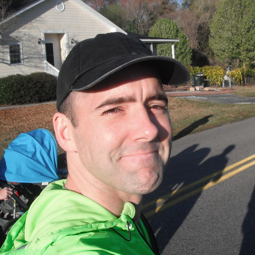 Brian at the Flowertown Festival Run, 2011