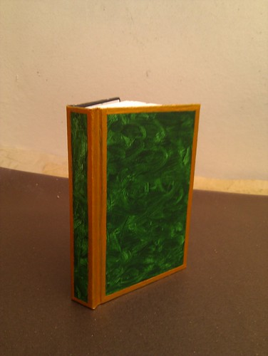Malachite & gold notebook (unvarnished)