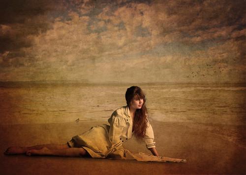 フリー写真素材, 人物, 女性, ビーチ・砂浜,