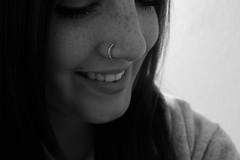 freckles. (Chloe Watkins Photography) Tags: white black canon nose eos rebel ring nosering freckles xs