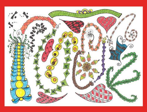 Freehand Doodle Patterns-Group Sampler