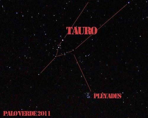Palo Verde, Foto del cielo con indicaciones