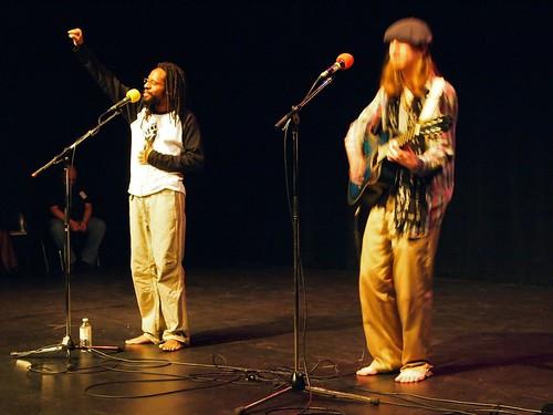 John Akpata and Graeme on guitar