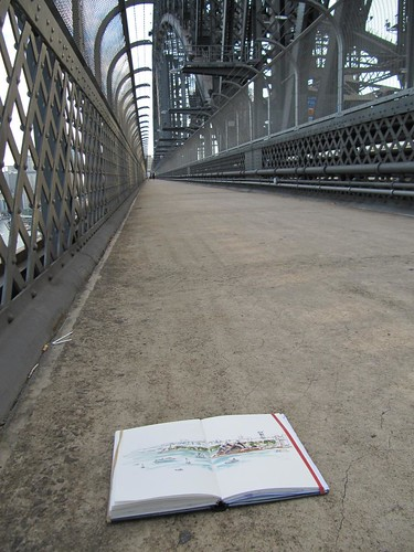110312 Sketching on the harbour bridge