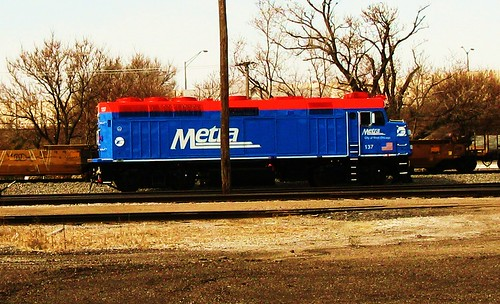 Metra commuter locomotive. Schiller Park Illinois USA. Monday, March 14th, 2011. by Eddie from Chicago