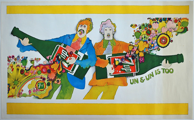 7Up_Un & Un Is Too_vintage UnCola poster signed by Kim Whitesides