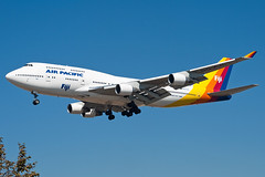 """DQ-FJL Air Pacific 747-400 (Centreline Photography) Tags: plane canon airplane la losangeles airport aircraft aviation airplanes flight aeroplane hollywood planes lax flughafen runway spotting airliner airliners planespotting flug spotters klax hall"""" photography"""" """"chris """"aviation """"centreline"""