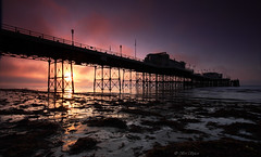 Foggy Sunrise (Through Bri`s Lens) Tags: fog sunrise sussex pier worthing weed lowtide worthingpier
