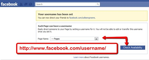 New Facebook Pages: Page URL