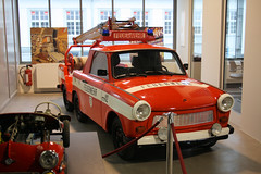 Meilenwerk, Fire dept. Trabant (Ilia Goranov) Tags: car germany deutschland fire stuttgart workshop vehicle firedept firedepartment trabant meilenwerk