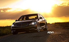 Mercedes S550 AMG ADV08 Deep Concave (ADV1WHEELS) Tags: road sunset grey one mercedes nikon florida miami wheels dirt mia rims advance fla s550 adv1 d300s