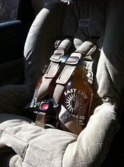 Honey, I'm having twins. #beer (tinepgh) Tags: carseat growler britax eastendbrewingcompany