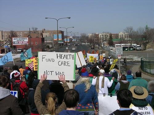 fund Health Care not War