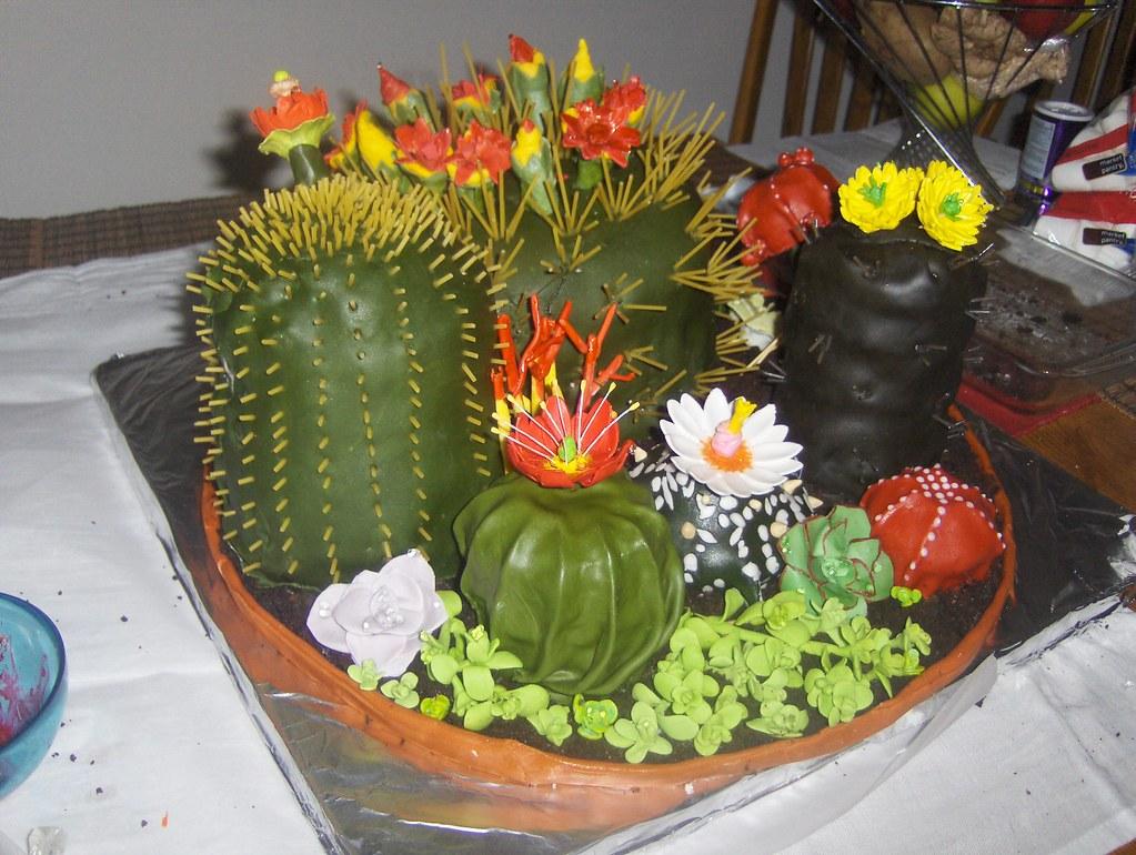 All Edible cactus cake