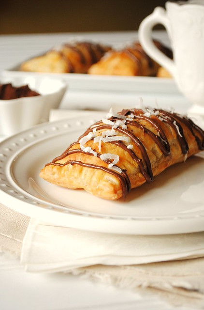 Nutella, Banana and Coconut Hot Pockets