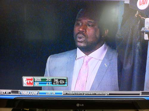shaq in tunnel