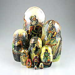 Masterpieces of Russian Famous Paintings 10pcs. Nesting Dolls (The Russian Store) Tags: trs matrioshka matryoshka russiannestingdolls  stackingdoll  russianstore  russiangifts  russiancollectibledolls shoprussian