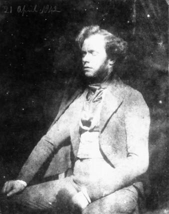 Nicolas Henneman en 1842. Fotografía de Henry Fox Talbot