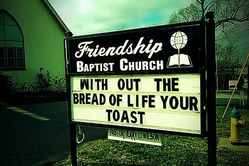 On the streets of Ashvegas: 'Without the bread of life…'