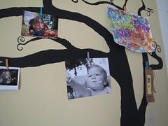Photo/Art Tree (jaimebarks) Tags: tree art mural nursery clothespins playroom