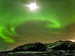 Solar Swirl (Magic Pea) Tags: sky snow green night stars landscape photography lights coast photo iceland magical northernlights auroraborealis selfoss magicpea
