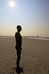 An Antony Gormley scultputre