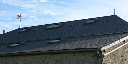 Finished Slate Roof with Cockerel
