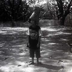 where the wild things are (.emong) Tags: portrait bw 120 6x6 tlr film monochrome sanantonio mediumformat square play mask philippines analogue zambales yashicamat124g kodaktrix400 anisantos