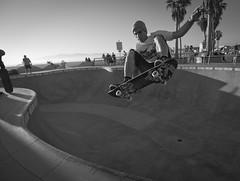 Backside Air (K Fulton) Tags: blackandwhite intense skateboarding air dramatic fast bowl 7d venicebeach frontside 1116mm kylefulton