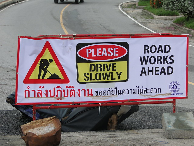 The day after - road works ahead