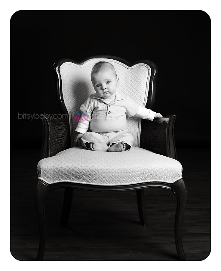 Baby Photography Maryland in chair