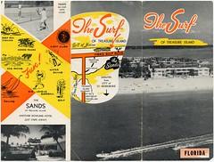 The Surf of Treasure Island (jaynawallace) Tags: gulfofmexico vintage treasureisland florida motel fl brochure fla surfoftreasureislandmotorcourt