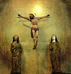 Gekreuzigter /  (Mah Nava) Tags: texture church easter cross god jesus kirche kreuz human ostern jesu mensch crucified gutt  gekreuzigter  kreuzigen