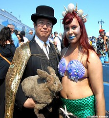 Dr. Takeshi Yamada and Seara (Coney Island Sea Rabbit) at the Mermaid Parade by the Coney Island Beach in Brooklyn, New York on June 18, 2016.  20160618SAT MERMAID PARADE. DSCN6614=p4035C1 (searabbits23) Tags: searabbit seara takeshiyamada  taxidermy roguetaxidermy mart strange cryptozoology uma ufo esp curiosities oddities globalwarming climategate dragon mermaid unicorn art artist alchemy entertainer performer famous sexy playboy bikini fashion vogue goth gothic vampire steampunk barrackobama billclinton billgates sideshow freakshow star king pop god angel celebrity genius amc immortalized tv immortalizer japanese asian mardigras tophat google yahoo bing aol cnn coneyisland brooklyn newyork leonardodavinci damienhirst jeffkoons takashimurakami vangogh pablopicasso salvadordali waltdisney donaldtrump hillaryclinton endangeredspecies parade