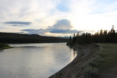 Yukon River Sunset (demeeschter) Tags: canada yukon territory klondike highway lake mountain scenery landscape nature wildlife fire forest river minto resort bald eagle