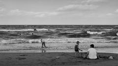 Riccione (Cava AL) Tags: 2016 bw bn gx7 monocrome panasonic riccardocavallaro street streetphotography bianco black mare nero riccione spiaggia white