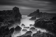 _MG_1021-1 (Jingshu Zhu) Tags: seascape landscape sea ocean clouds rocks bombo sydney bw monochrome